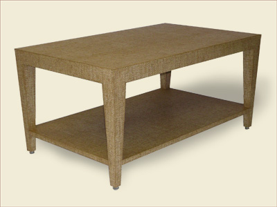 Catalog Item #100 Parsons Table with Shelf and 4-Way Tapered Legs