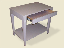 Parsons Table with Drawer and Shelf