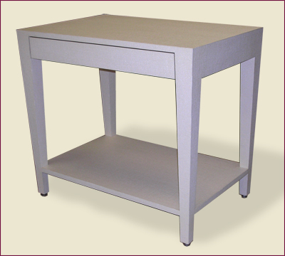 Catalog Item #100 - Parsons Table with Drawer and Shelf
