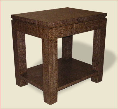 Catalog Item #100 Parsons Table with Square Top Reveal, Lower Shelf, 3 inch Leg, and Apron